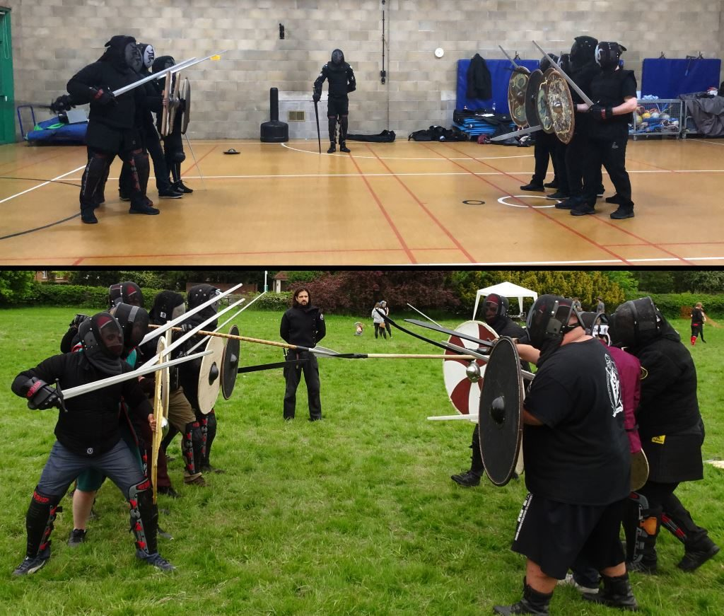 Shield wall versus shield wall in the hall and on the field
