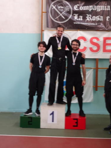 Jordan taking gold for sword and buckler at the South Wind event.
